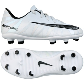 Fotbollskor Nike Mercurial Vortex Iii CR7 Fg Jr. 852494-401 vit
