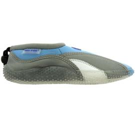Aqua-Speed Jr neoprenstrandskor grå