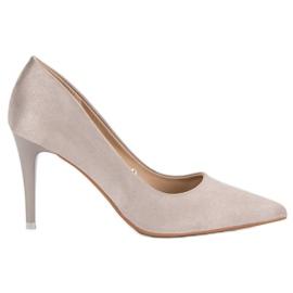 Vinceza Grey Suede Heels grå