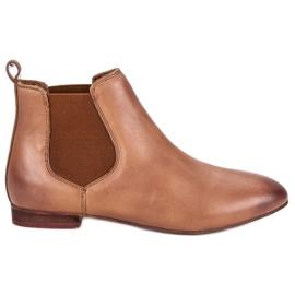 Kvinnors läder Jodhpur stövlar brun