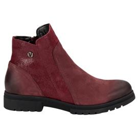 Bekväma läderskor VINCEZA röd