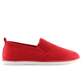 Sneakers slip-on röd LA08P Red