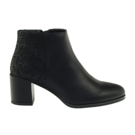 Svarta högklackat skor Sergio Leone 542