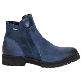 Bekväma läderskor VINCEZA blå