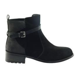 American Club American stövlar vinter stövlar mocka läder svart