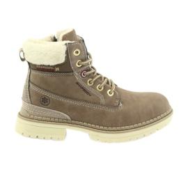 American Club brun Amerikanska stövlar bootees vinter stövlar 708122