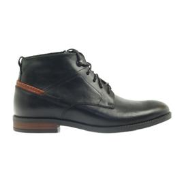 Boots svart knuten Pilpol 6030