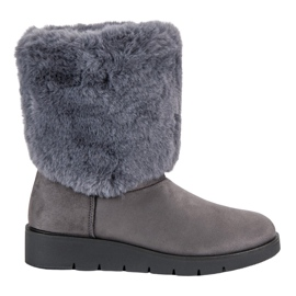 Kylie grå Fashionabla vinterskor