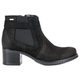 Läder Jodpers VINCEZA svart