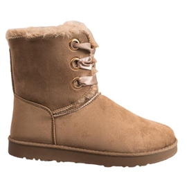 Kylie brun Tied Snow Boots