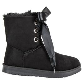 Kylie svart Tied Snow Boots