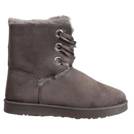 Kylie grå Tied Snow Boots