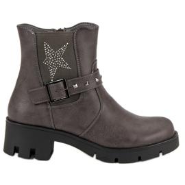 Groto Gogo grå Rock Boots On Platform