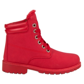 Bestelle Red Warm Trappers röd