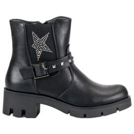 Groto Gogo svart Rock Boots On Platform