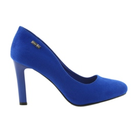 Sergio Leone blå Suede pumpar 1457