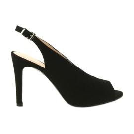 Edeo Suede sandaler på en stift svart