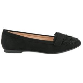 Small Swan Classic Black Loafers svart