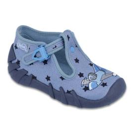 Blå Befado färgade barnskor 110P345