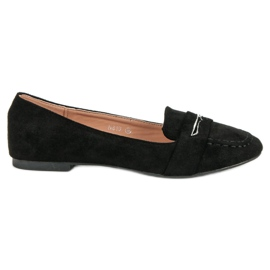 Small Swan Suede Loafers With Brocade svart