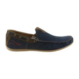 Riko moccasin skor män blå 781