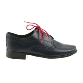Miko skor barnskor Kommunion marinblå