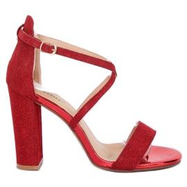 Sandaler på stolpen röd NC791 Red