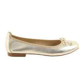 Caprice ballerinas guldskor för kvinnor 22102
