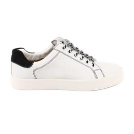 Kvinnors vita sneakers Caprice 23203 justerbar bredd