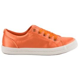 Kylie Satin Sneakers apelsin