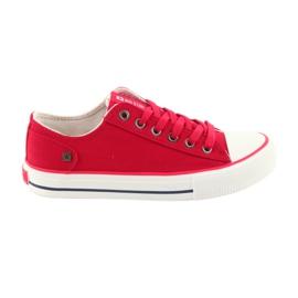 Sneakers bundna röda Big Star 274339