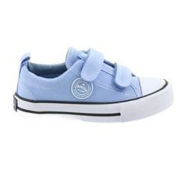 Kardborreskor American Club LH50 blå barnskor
