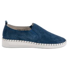 Filippo Läder Sneakers Slip On blå