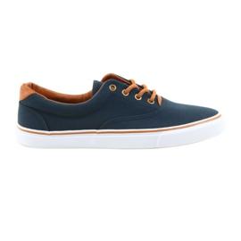 American Club Mäns sneakers marinblå knuten LH03