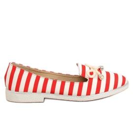 Slip-on Stripe i vit och röd H8-105 Red