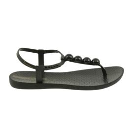 Svart Ipanema sandaler damskor flip-flops med bollar 82517