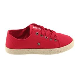 Big Star Ballerinas espadrilles kvinnors skor röd Stor stjärna 274424
