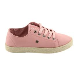 Big Star Ballerinas espadrilles kvinnors skor rosa Stor stjärna 274425