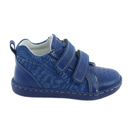 Ren But blå Barnens medicinska skor med velcro Ren Men 1429