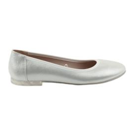 Grå Ballerina skor för kvinnor silver Sergio Leone 607