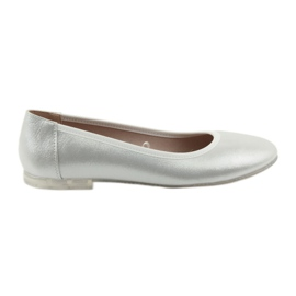 Grå Ballerina skor för silver Sergio Leone BL607