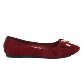 Ballerina kvinnors rödbruna JM3550J Burdeo