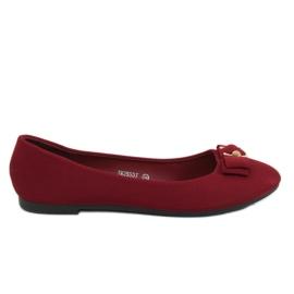 Röd Ballerina för kvinnor maroon JM3553J Burdeo