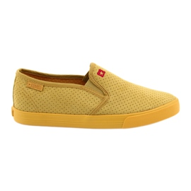 Big Star 274889 kvinnors slip-in sneakers gul