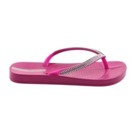 Flip-flops silverkedjor Ipanema 82528 rosa