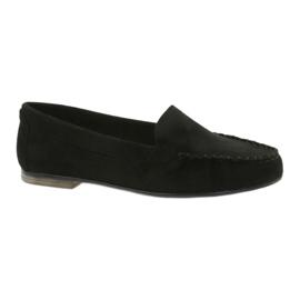 Kvinnors mocka loafers Sergio Leone 721 svart