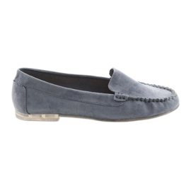 Kvinnors mocka loafers Sergio Leone 721 blå