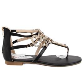 Sandaler med stenar svart 6700 Svart