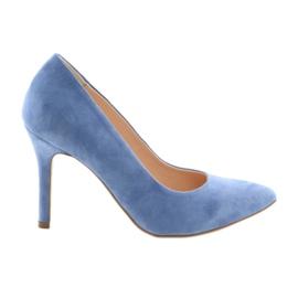 Pumpar på stift kvinnors skor Edeo 3313 blå