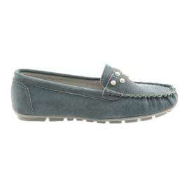 Filippo grå kvinnor moccasins skor